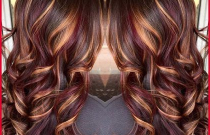 Fall Hair Colors 206152 Brunette Hair Color With Burnished Intended For Black Hairstyles With Brown Highlights (View 15 of 25)
