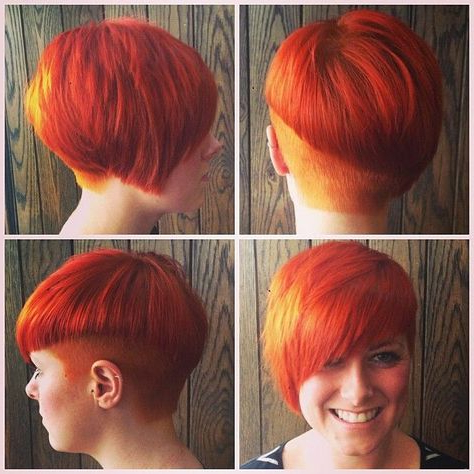 Flamboyant | Short Hair Styles Pixie, Red Orange Hair In Pixie Hairstyles With Red And Blonde Balayage (View 20 of 25)