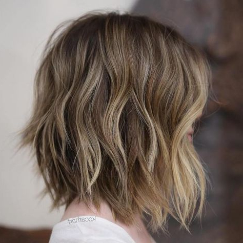 Gorgeous Brown Hairstyles With Blonde Highlights – Fashion In Bronde Balayage For Short Layered Haircuts (View 10 of 25)