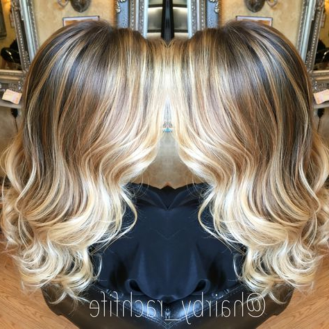 Gorgeous Hand Painted Blonde Balayage Ombre With Beachy Within Beachy Waves Hairstyles With Balayage Ombre (View 13 of 25)