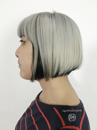 Graduated Bob With Blunt Bangs | Short Textured Hair Intended For Short Bob Hairstyles With Balayage Ombre (View 22 of 25)