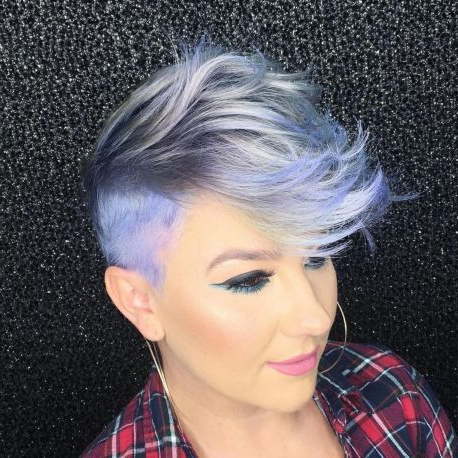 Gray Pixie Undercut In 2020   Mohawk Hairstyles, Short In Most Popular Coral Mohawk Hairstyles With Undercut Design (View 19 of 25)