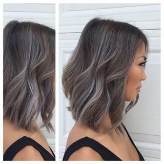 Grey Balayage – Google Search   Short Hair Balayage Intended For Blonde Balayage On Short Dark Hairstyles (View 18 of 25)