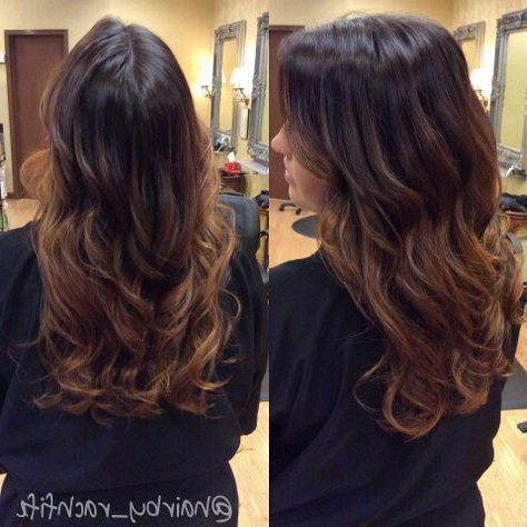 Guy Tang Inspired Long Beachy Curls And Balayage Ombre Within Beachy Waves Hairstyles With Balayage Ombre (View 3 of 25)