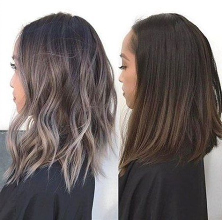 Hair Color Ash Black Hairstyles 50 Ideas For 2019   Grey With Ash Blonde Balayage Ombre On Dark Hairstyles (View 15 of 25)