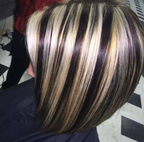 Hair Color Highlights And Lowlights Chunky Haircolor 64 Within Short Brown Hairstyles With Subtle Highlights (View 16 of 25)