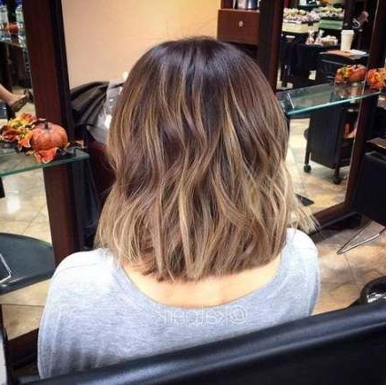 Hair Color Tips Highlights Hairstyles 34+ Ideas | Short With Caramel Blonde Balayage On Inverted Lob Hairstyles (View 20 of 25)
