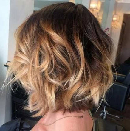 Hair Ombre Caramel Brown 44 Trendy Ideas #Hair | Short Regarding Short Brown Balayage Hairstyles (View 6 of 25)