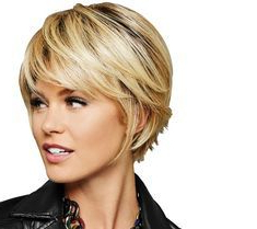 Hairdo Textured Fringe Bob Styled Wig – Qvc | Thick In Textured Haircuts With A Fringe And Face Framing (View 14 of 25)