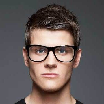 Handsome Guy Wearing Glasses | Mens Glasses, Glasses For With Regard To A Shape Framed Haircuts (View 23 of 25)