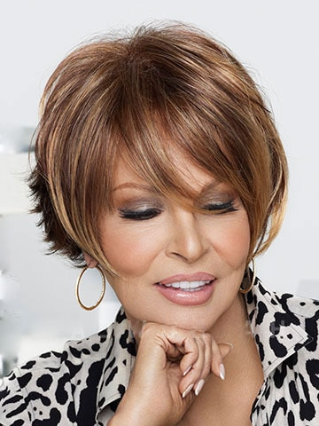 Heat Resistant Synthetic Brown Hair Blonde Highlights Wigs Pertaining To Short Hairstyles With Delicious Brown Coloring (View 16 of 25)