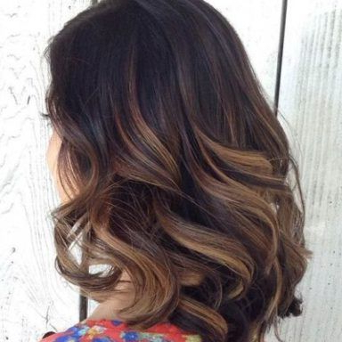 Highlights/ Lowlights For Dark Brown Hair : 31 Balayage Intended For Black Hairstyles With Brown Highlights (View 8 of 25)