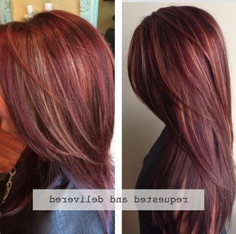 How To: Rich Red Hair Color With Golden Caramel Highlights With Regard To Natural Brown Hairstyles With Barely There Red Highlights (View 9 of 25)