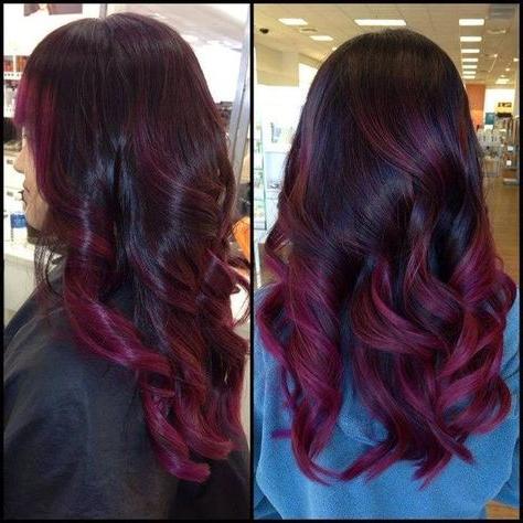 Featured Photo of Burgundy Balayage On Dark Hairstyles