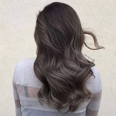 Image Result For Dark Brown Ash Hair   Ash Brown Hair Regarding Ash Blonde Balayage Ombre On Dark Hairstyles (View 19 of 25)