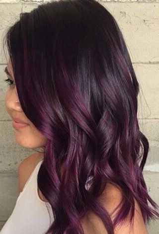 Image Result For Dark Brown Hair With Burgundy Highlights Throughout Burgundy Balayage On Dark Hairstyles (View 8 of 25)
