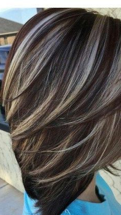 Image Result For Dark Brown Hair With Silver Highlights Throughout Short Hairstyles With Delicious Brown Coloring (View 5 of 25)