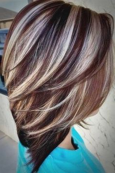 Image Result For Dark Brown Hair With Silver Highlights With Short Brown Hairstyles With Subtle Highlights (View 10 of 25)