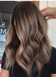 Image Result For Light Brown Balayage On Dark Hair Regarding Short Brown Balayage Hairstyles (View 3 of 25)
