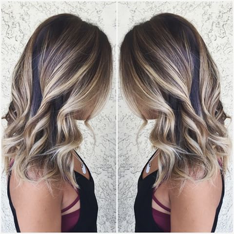 Image Result For Partial Balayage On Dark Hair | Beachy With Shaggy Bob Hairstyles With Blonde Balayage (View 14 of 25)