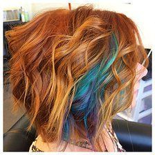 Image Result For Redheads With Teal Highlights #Highlights Throughout Natural Brown Hairstyles With Barely There Red Highlights (View 2 of 25)