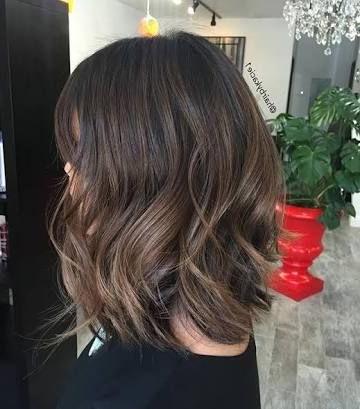 Image Result For Smokey Ash Brown Hair Balayage | Short For Balayage Highlights For Long Bob Hairstyles (View 7 of 25)