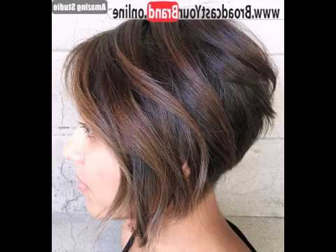 Inverted Bob With Balayage – Youtube Inside Balayage For Short Stacked Bob Hairstyles (View 7 of 25)