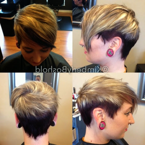 June Hair 2014 | Hairkimberly Within Long Pixie Hairstyles With Dramatic Blonde Balayage (View 16 of 25)