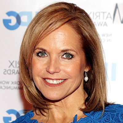 Katie Couric'S Changing Looks | Katie Couric, Katie Couric In Half Bob Half Pixie Hairstyles With Cool Blonde Balayage (View 22 of 25)