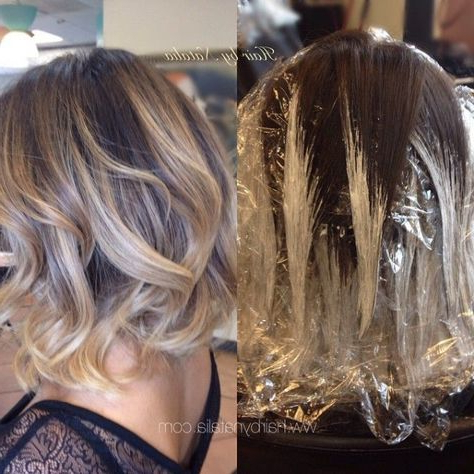 Kratki Ombre | Balayage Hair, Short Hair Balayage, Hair Styles With Regard To Short Bob Hairstyles With Balayage Ombre (View 23 of 25)