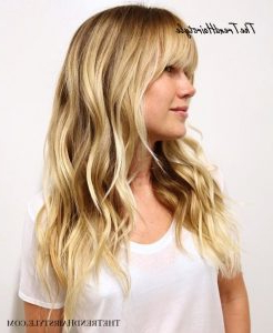 Layered Hairstyle With Thick Fringe – 50 Cute Long Layered In Layered Dimensional Hairstyles (View 6 of 25)