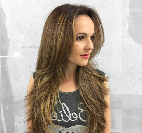 Layered Hairstyles For Long Faces – Askhairstyles With Long Layers Hairstyles With Face Framing (View 25 of 25)