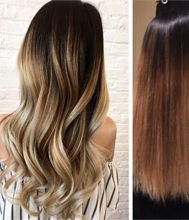 Long Auburn Balayage Hairstyles #Longauburnbalayage For Long Pixie Hairstyles With Dramatic Blonde Balayage (View 4 of 25)