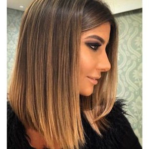 Long Bob Haircut And Hairstyle Ideas To Rock This Year For Caramel Blonde Balayage On Inverted Lob Hairstyles (View 18 of 25)