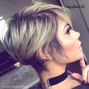 Long Messy Blonde Balayage Pixie – Pixie Haircuts For Within Pixie Hairstyles With Red And Blonde Balayage (View 2 of 25)