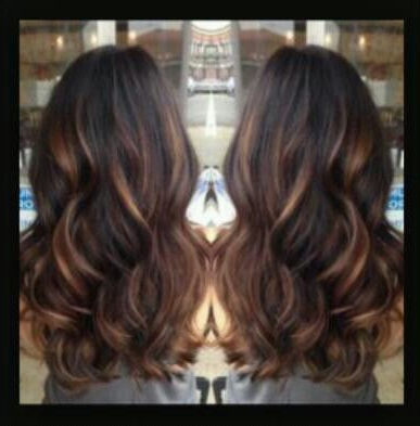 Love This Color | Hair Color Auburn, Dark Auburn Hair Throughout Natural Brown Hairstyles With Barely There Red Highlights (View 10 of 25)