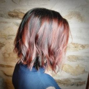 Mahogany Red Balayage | Hair Highlights With Bright Red Balayage On Short Hairstyles (View 11 of 25)