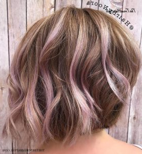 Medium, Beachy Waves With Ombre Highlights – 40 On Trend Inside Lavender Balayage For Short A Line Haircuts (View 8 of 25)