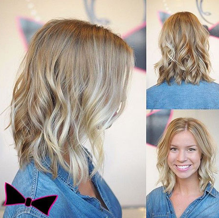 Medium Blonde Hairstyles Archives – Page 2 Of 3 – Blonde Pertaining To Blunt Cut Blonde Balayage Bob Hairstyles (View 6 of 25)