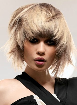 Medium Choppy Haircut Ideas In Graduated Bob Hairstyles With Face Framing Layers (View 8 of 25)