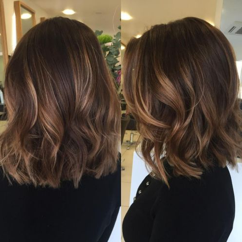 Medium Shag Hairstyle With Beachy Waves In 2020 | Medium For Beachy Waves Hairstyles With Balayage Ombre (View 6 of 25)