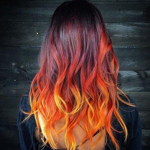 Meltdown@Wesdoeshair @Brazilianbondbuilder #B3 # Inside Bright Red Balayage On Short Hairstyles (View 4 of 25)