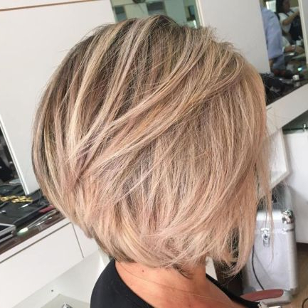 Messy Ash Blonde Bob   Short Hair With Layers, Bob In Ash Blonde Balayage For Short Stacked Bob Hairstyles (View 15 of 25)