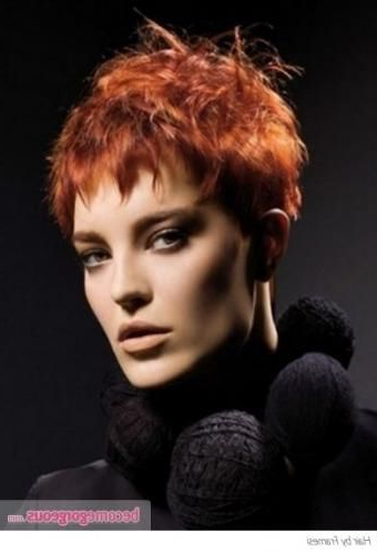 Nails Short Red Pixie Haircuts 60 Ideas | Short Red Hair In Pixie Hairstyles With Red And Blonde Balayage (View 22 of 25)