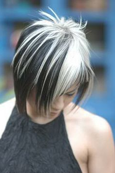 Pictures Of Silver Highlighted Hair – Google Search In Black Hairstyles With Brown Highlights (View 23 of 25)