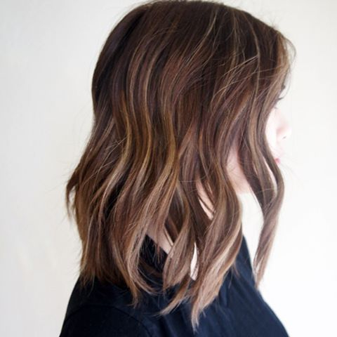 Pin Auf Hair Styles Intended For Balayage Highlights For Long Bob Hairstyles (View 4 of 25)