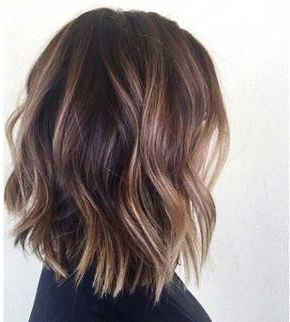 Pin On Balayage Straight Hair Ideas Pertaining To Caramel Blonde Balayage On Inverted Lob Hairstyles (View 16 of 25)