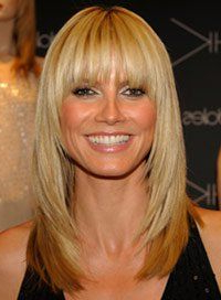 Pin On Bangs With Regard To Full Fringe And Face Framing Layers Hairstyles (View 15 of 25)