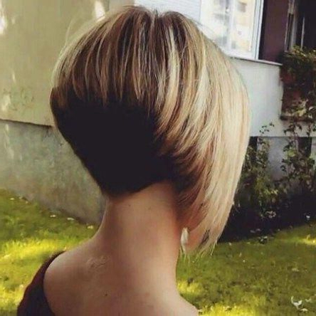 Pin On Bob Hairstyles Inside Balayage For Short Stacked Bob Hairstyles (View 12 of 25)