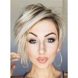 Pin On Cute Hair Styles In Long Pixie Hairstyles With Dramatic Blonde Balayage (View 14 of 25)
